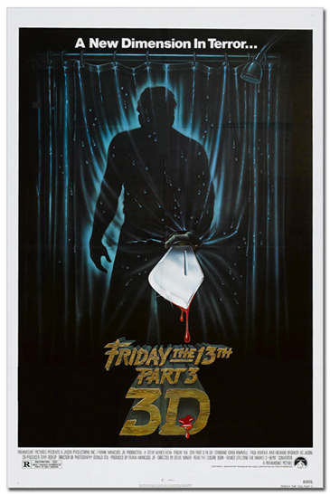 Friday the 13th Pt. 3-D Poster